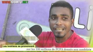 'Les ivoiriens se prononcent sur les 100 millions offerts aux candidats