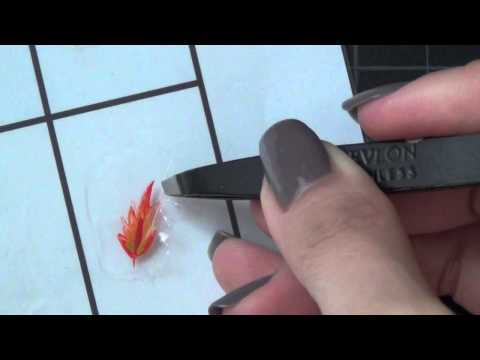 How To Transfer Freehand Designs On To Nails Making Your Own Nail Stickers