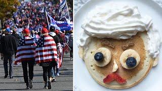 #MillionMAGAMarch: Twitter-User kapern Trump-Hashtag mit Pfannkuchen-Bildern