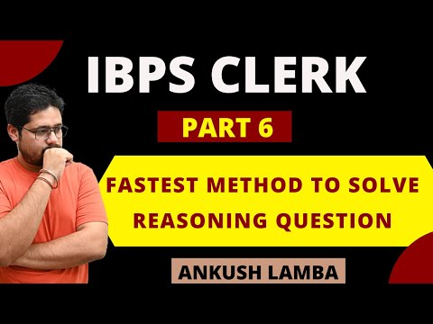 FASTEST METHOD TO SOLVE REASONING QUESTION || CAN YOU SOLVE FASTER THAN THIS ? || [ PART - 6 ]