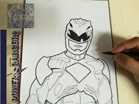 How To Draw Power Ranger Red Movie 2017 Como Dibujar