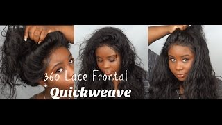 ♡ 360 Lace Frontal Pronto Quickweave !