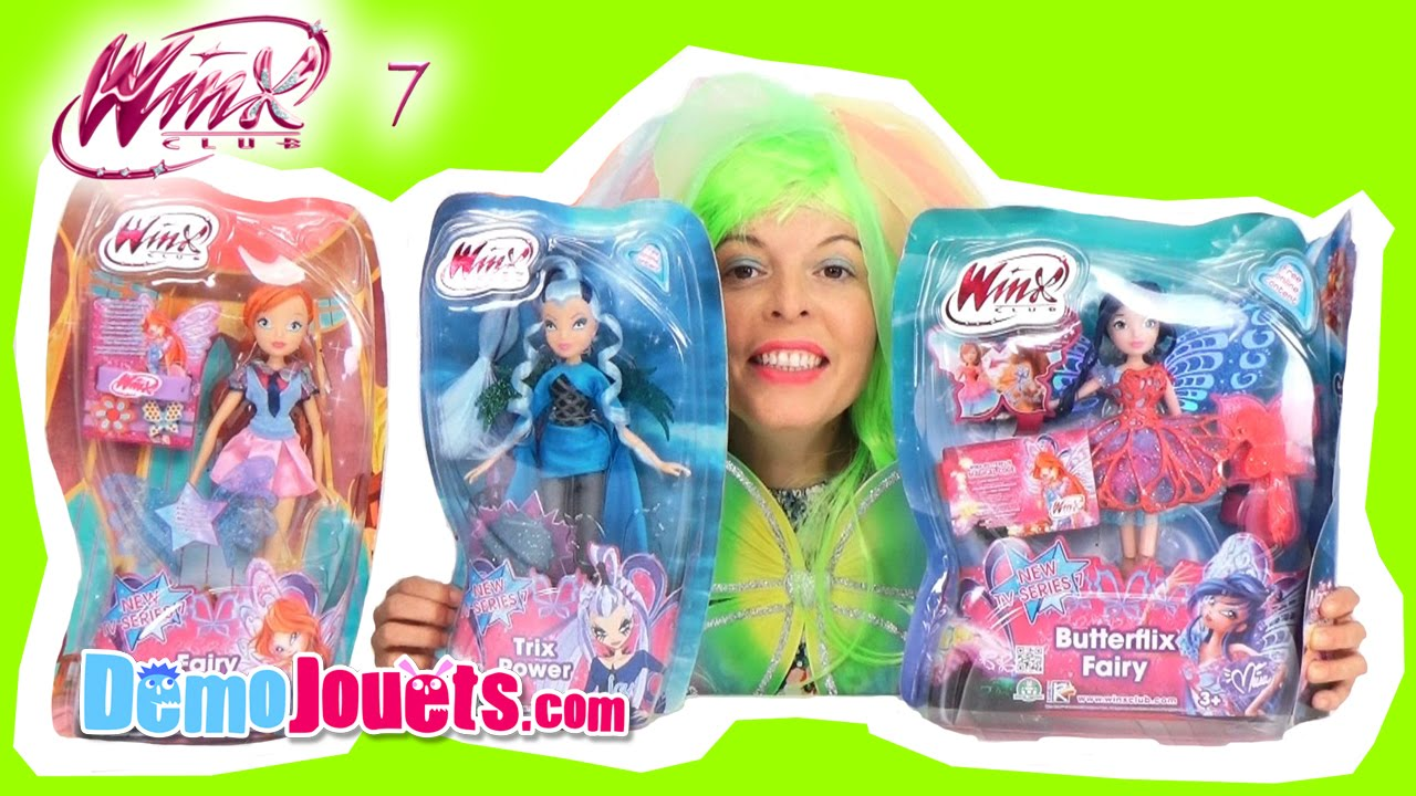 poup es winx butterflix fairy voici bloom musa icy du winx club d mo jouets youtube. Black Bedroom Furniture Sets. Home Design Ideas