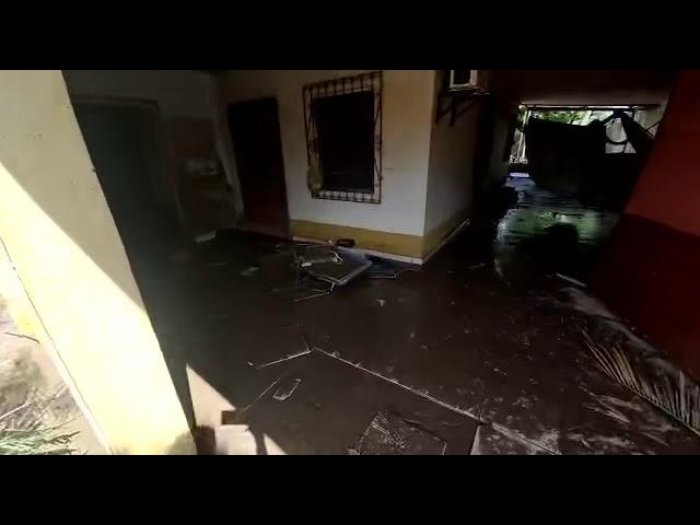 Col Celeo Gonzales después de la inundación 2