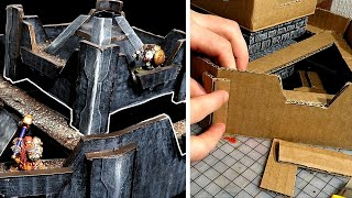Dwarven Stronghold! How to Build a Simple Miniature Castle for D&D or Warhammer