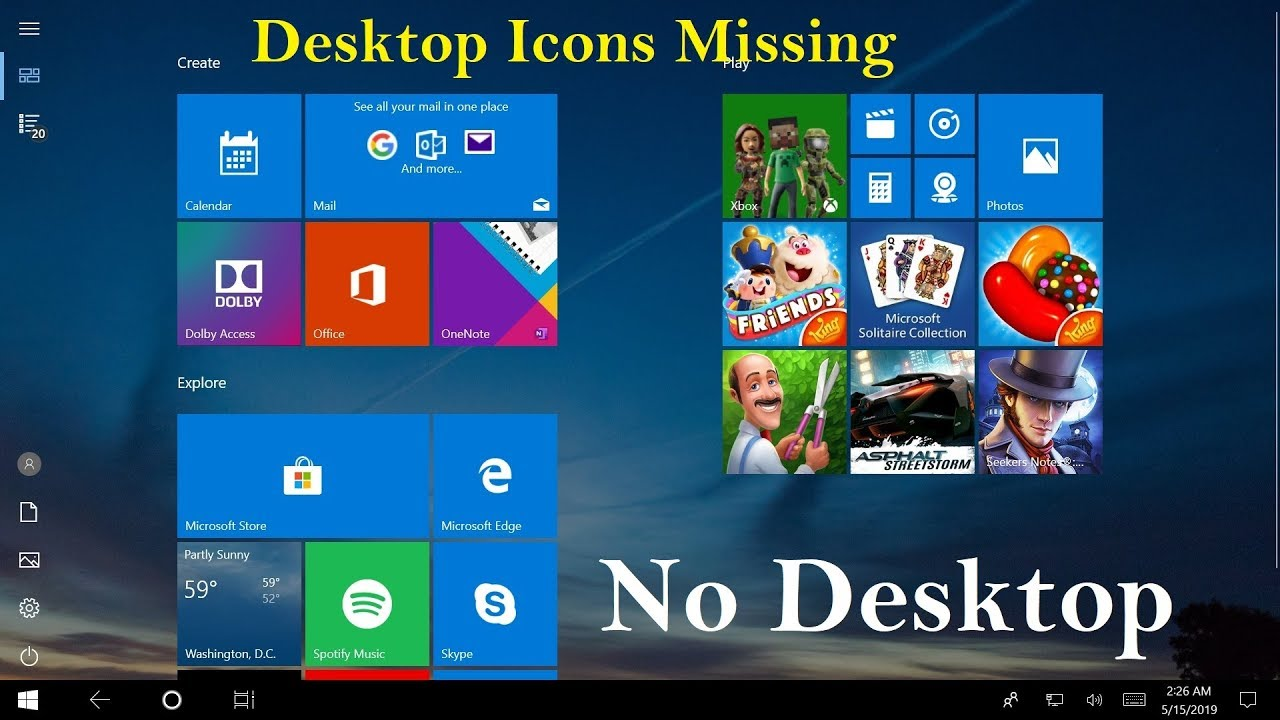 How to Fix Windows 10 Desktop Icons Missing! Desktop Icons Not Showing