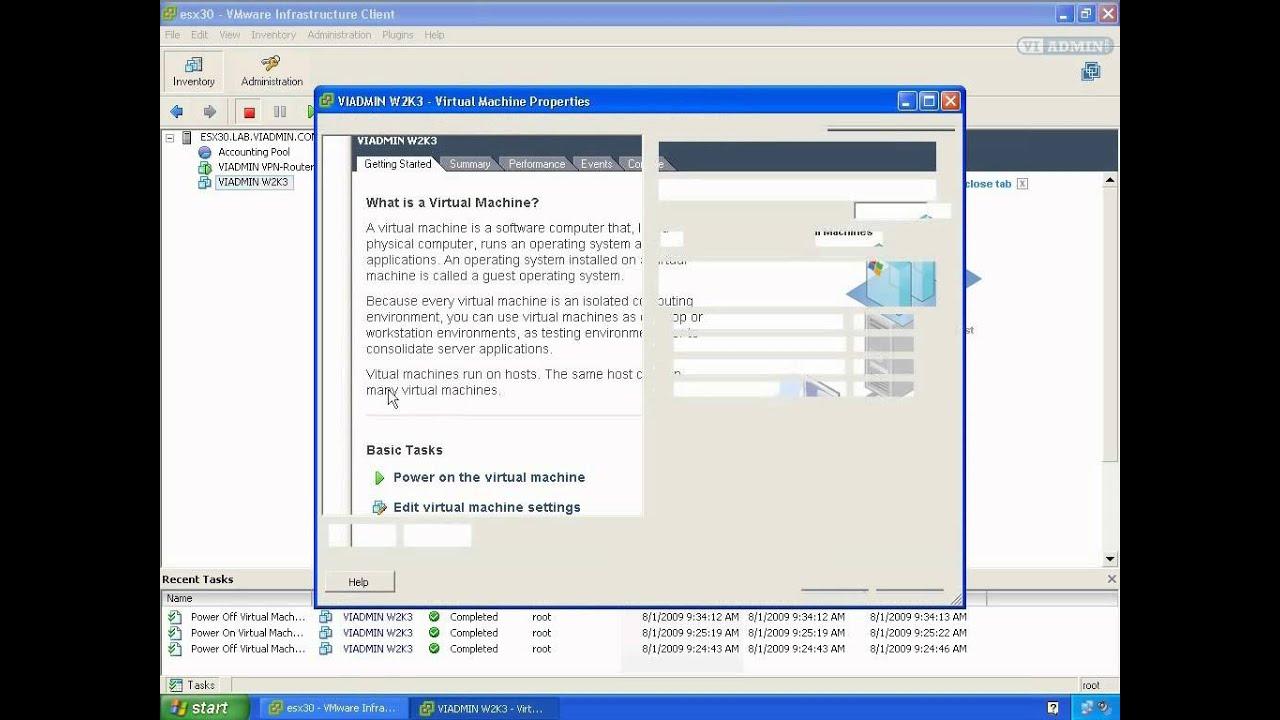 Adding A Network Adapter To VMWARE Virtual Machine (VI3)