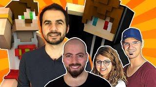 En Çok Sevdiğimiz YouTuberlar - Minecraft Parkur Haritası