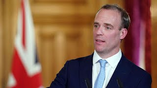 video: Watch live as Dominic Raab gives daily coronavirus update