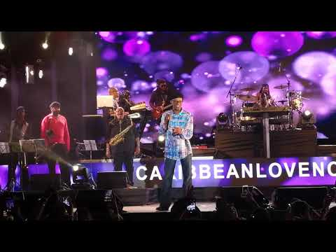 Beres Hammond thrills the crowd at the Caribbean Love Benefit Concert in Kingston