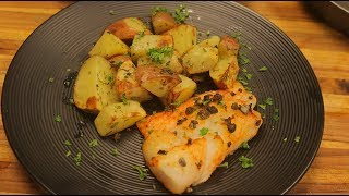 Airfryer Fish and Potato - air fryer recipes - healthy recipe - best air fryer