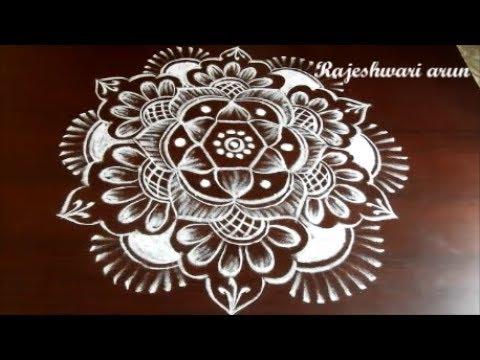 Latest Sankranthi Flower Rangoli Designs * Easy Pongal Kolam designs * Simple rangoli art designs