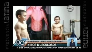 Giuliano Stroe: Conoce a uno de los niños más fuertes del mundo