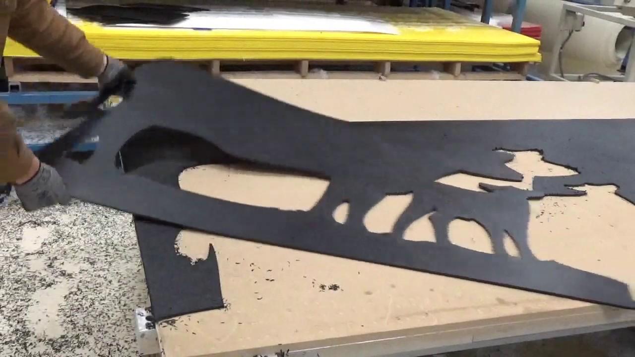 Custom Plastic Fabrication of ABS Plastic Silhouettes