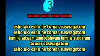 Eso Aalo Esho he Karaoke by Ramprasad 9932940094