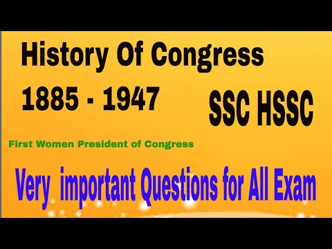 History of Congress (INC) 1885-1947
