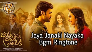 Jaya janaki nayaka bgm Ringtone || Charan_yadav