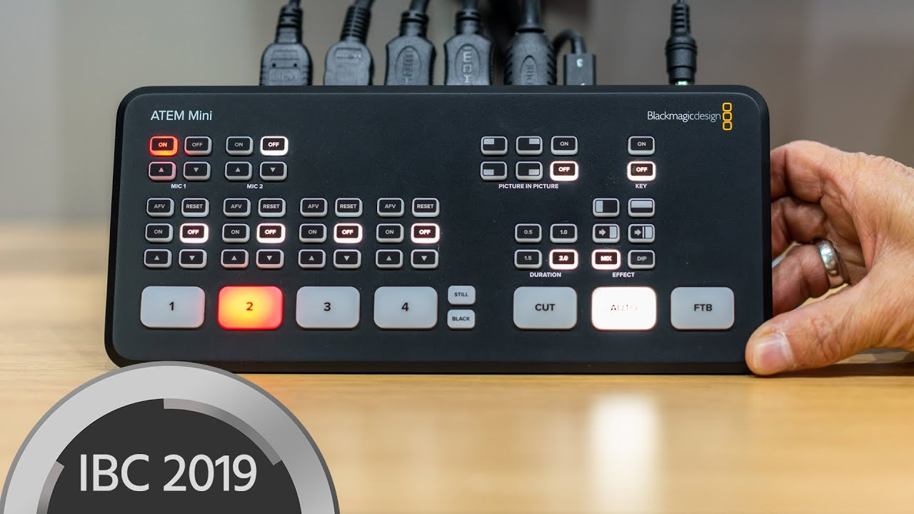 New Blackmagic Atem Mini Switcher For Hd Streaming And Vlogging Youtube