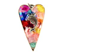 Faux Stained Glass Bead Pendant Tutorial
