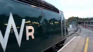 Great Western Railways Class 43 HST Departing Bristol Temple Meads (14/10/15)