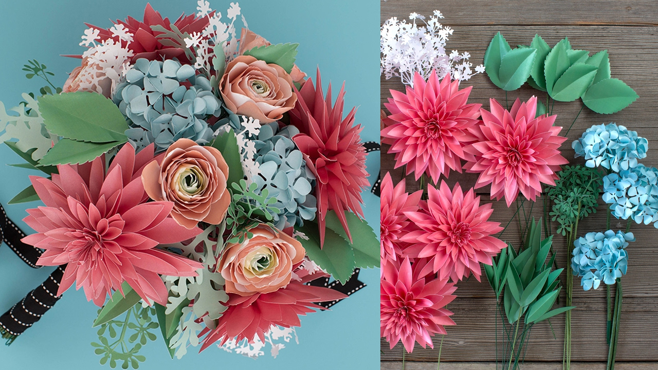 How to Make a Paper Flower Bouquet: Filler & Bouquet Assembly - YouTube