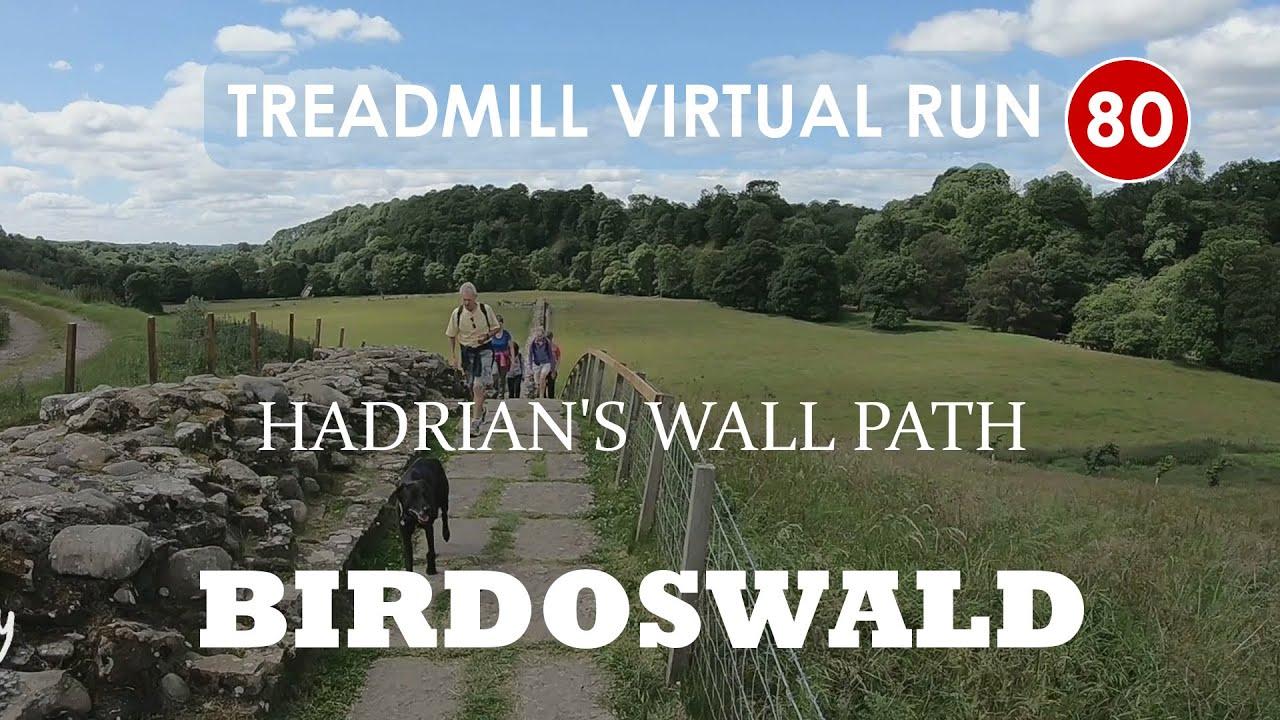 Hadrian's Wall Path 8/13, Gilsland and Birdoswald, Cumbria | Treadmill Virtual Run 80 - YouTube