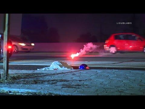 91 Freeway Fatal Fly Off  / Long Beach   RAW FOOTAGE