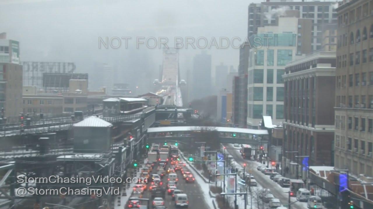 queens new york city  heavy snow  12172016  youtube