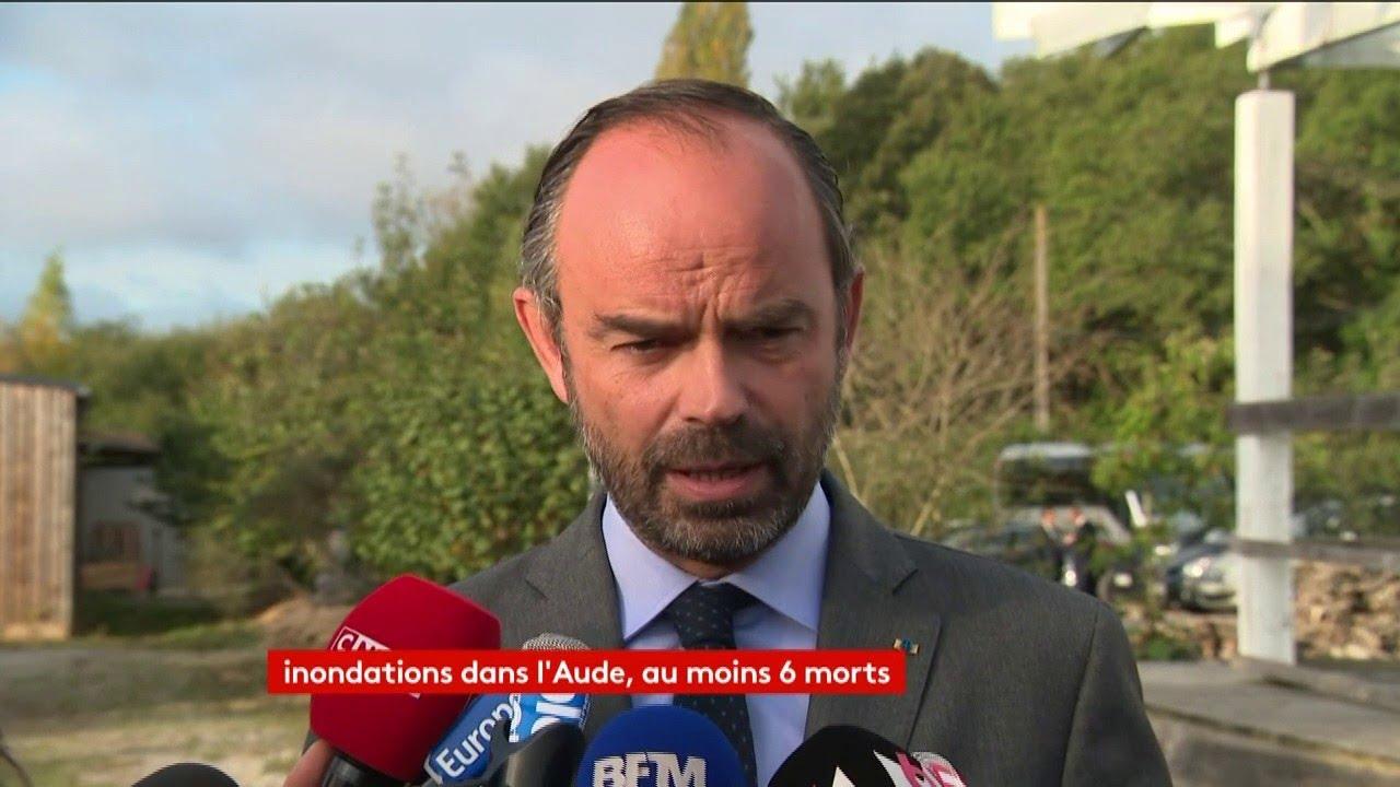 Intempérie : Edouard Philippe se rendra dans l'Aude lundi après-midi