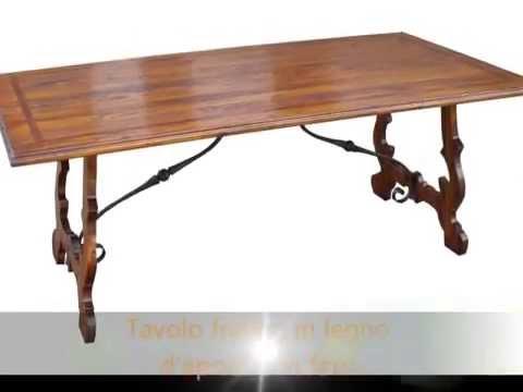 Produzione tavolo tavoli fratini in legno antico con legname di recupero e in...
