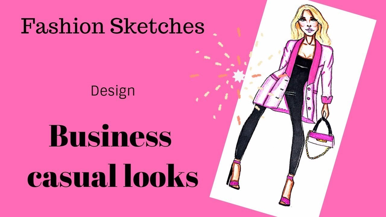 How To Draw Business Casual Looks Suit Jacket And Jumpsuit Youtube
