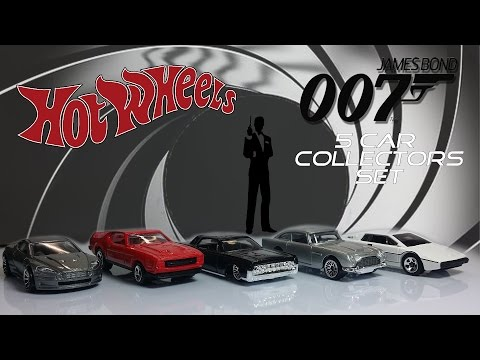 Hot Wheels James Bond 007 Set Unboxing and Review