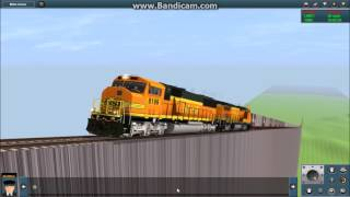Trainz 12: Crashing Trains off Ramp!! Epic!!