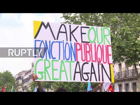 France: 17 arrested as thousands join Paris civil servant march