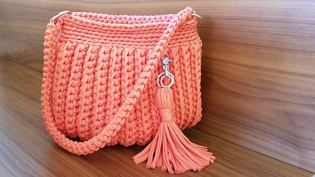 a22500580 Como Fazer Uma Bolsa Com Fio de Malha - Tutorial de Crochê - YouTube