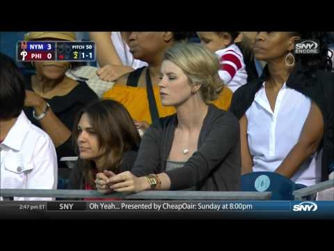 Phillies Pitcher's Girlfriend Watches Him against the Mets
