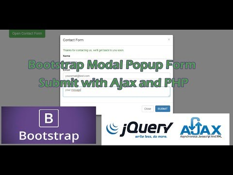Bootstrap Modal Popup Form Submit with Ajax & PHP | Tutorial101