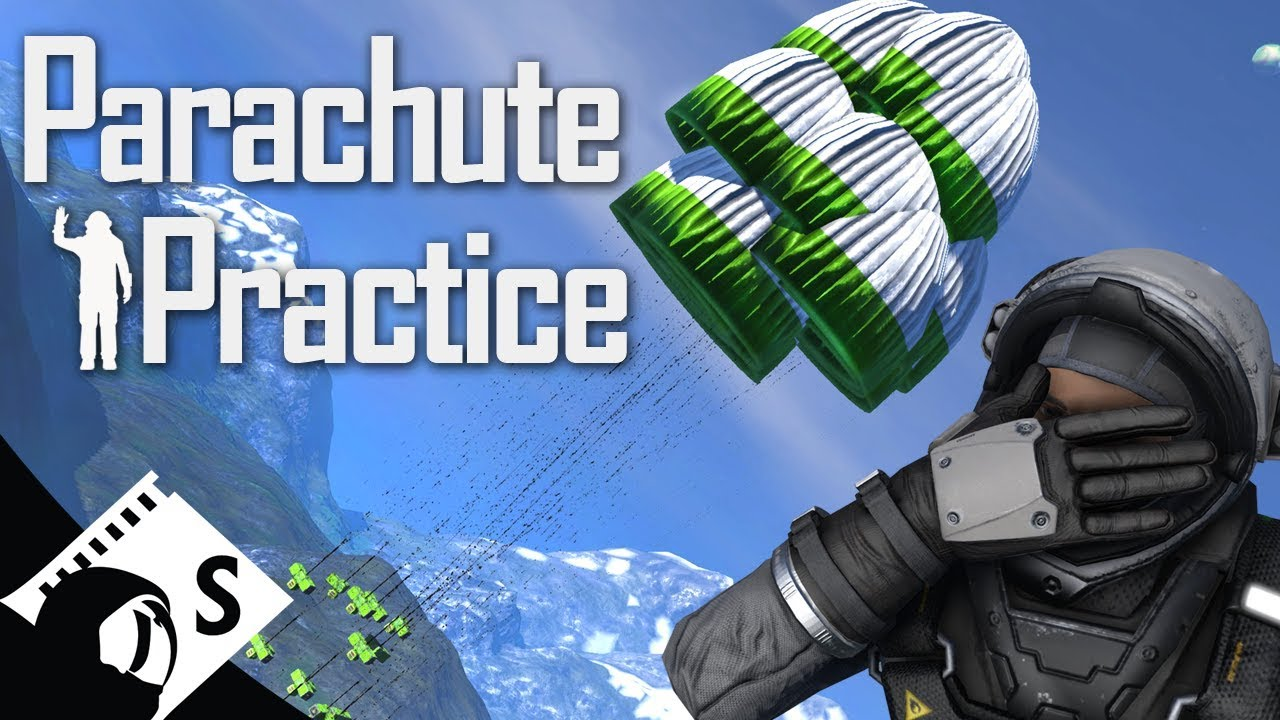 Space Engineers Tutorial: Parachute Practice (tips, testing and tutorials  for survival)