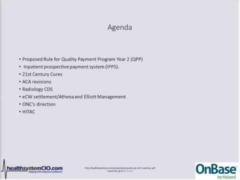 6/22 – HIT Policy Update: John Halamka, MD, CIO, BIDMC (Sponsored By OnBase By Hyland)