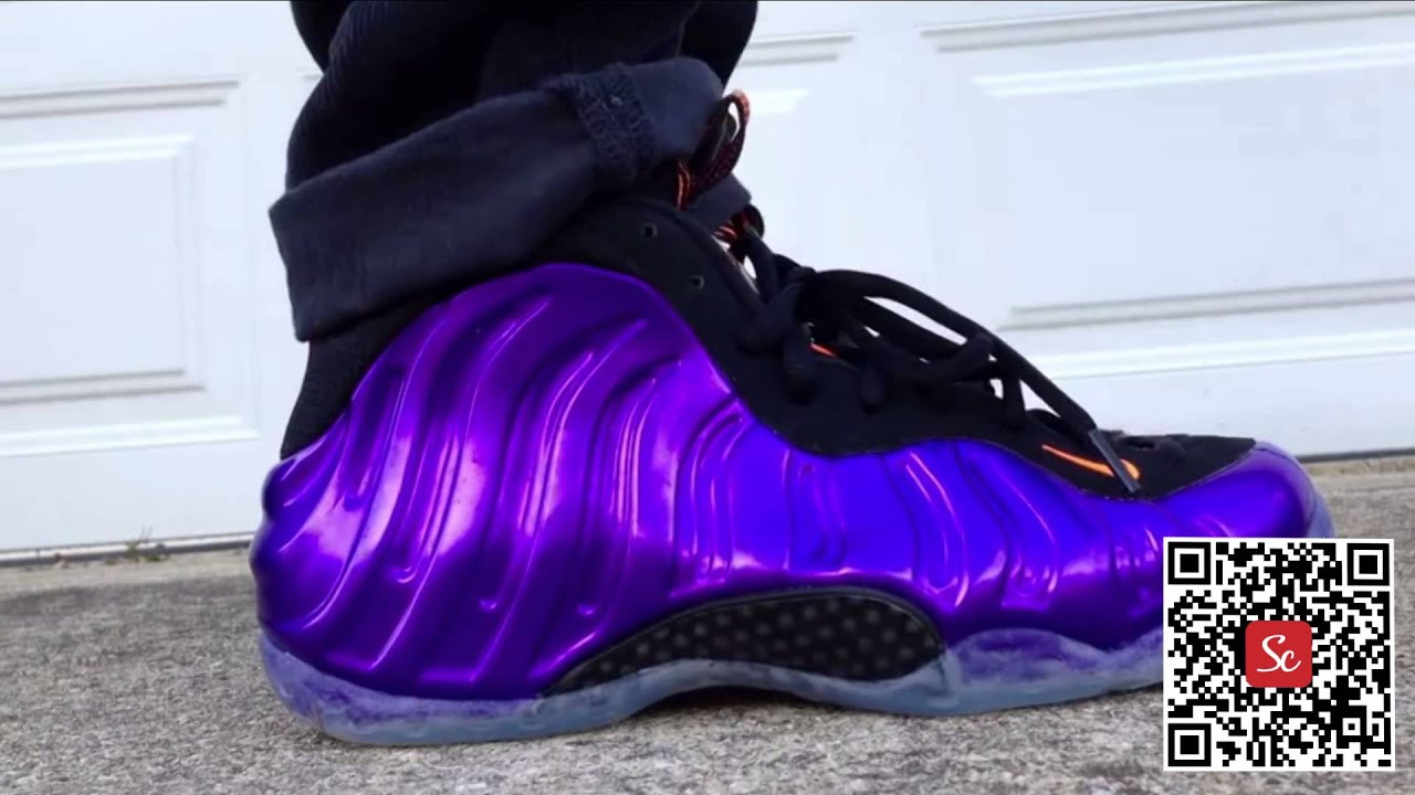 sale retailer 28b27 6ae80 Solecool App - Nike Air Foamposite One Phoenix Suns Electro Purple Total  Orange Review On Feet