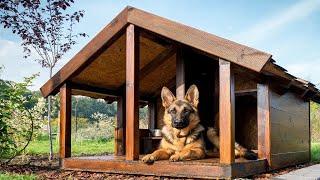 Тёплая собачья будка своими руками! Утепленная будка с пеноплэкс!