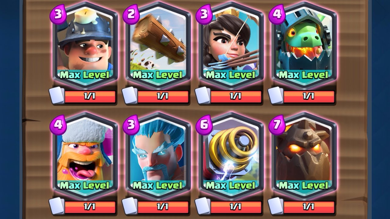 100 All Legendary Deck Maxed W Inferno Dragon Clash Royale Youtube
