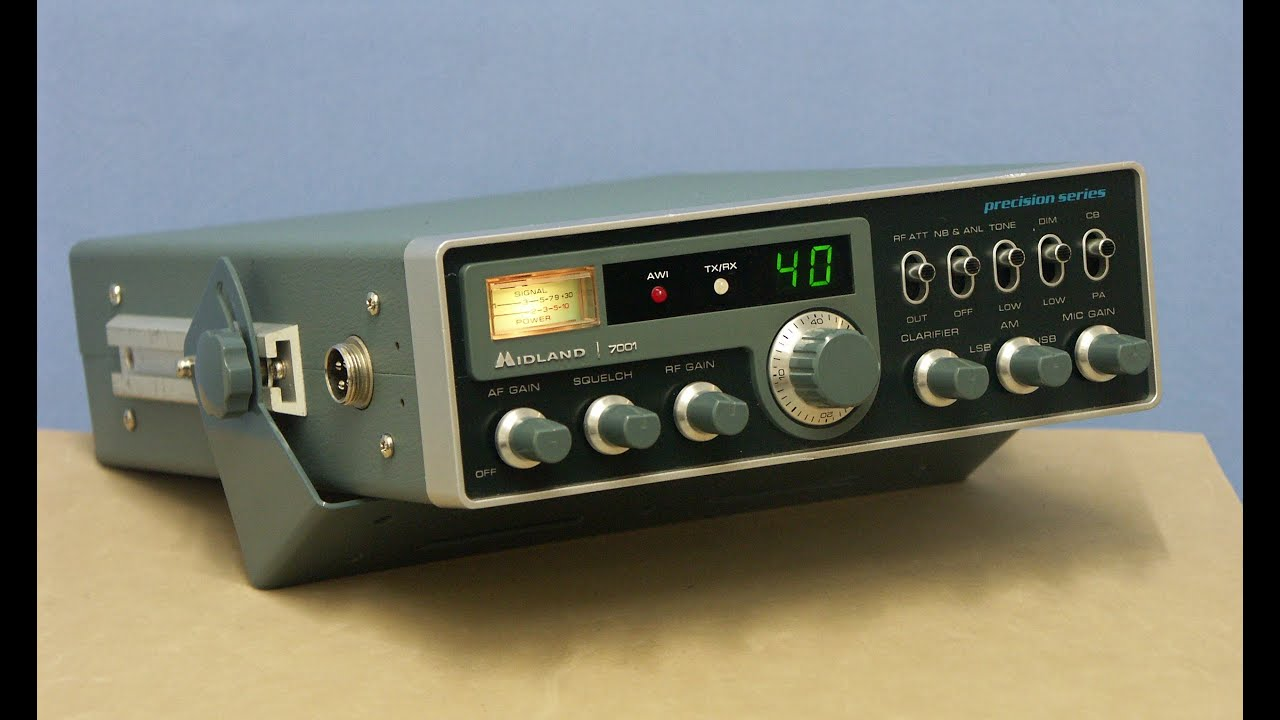The US MIDLAND 7001, one of the best SSB CB-radio by CYBERNET ever ...