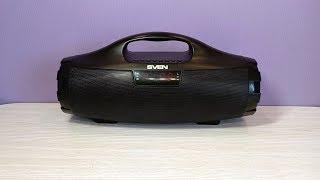 оБЗОР СВЕН PS-460  - Портативная Беспроводная Блютуз колонка. Review SVEN Bluetooth Speaker
