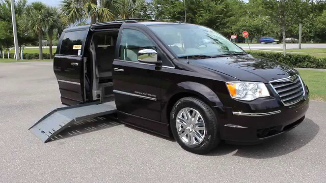 Wheelchair van handicap ramp van braun mobility 2010 chrysler town country limited 52k www vipaut youtube
