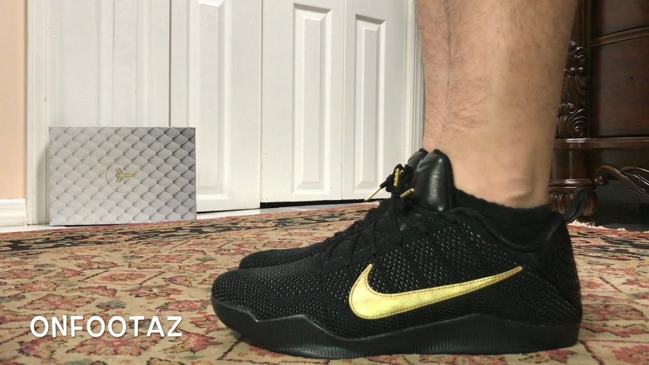 9bdae7ddeb7e Nike Kobe 11 XI Elite Low FTB Fade To Black On Foot - YouTube
