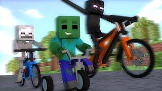 Minecraft : CORRIDA DE BICICLETAS - Escola Monstro Férias #02 | Monster School Minecraft
