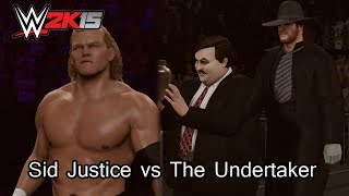 WWE 2K15 (PC) Sid Justice (with Theme) vs The Undertaker