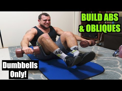 Intense 8 Minute Dumbbell Ab & Oblique Workout