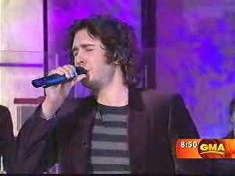 Josh Groban GMA I'll be home for Christmas 2007